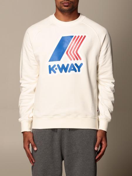 K-Way men: K-way crewneck sweatshirt with logo