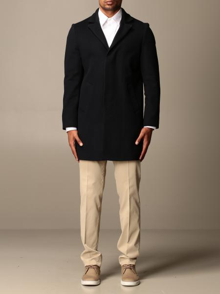 Brian Dales single-breasted coat in wool blend