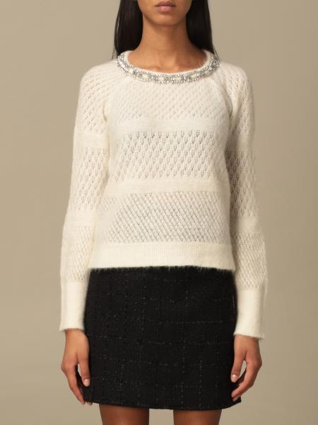 Blumarine: Blumarine jewel sweater in cotton blend