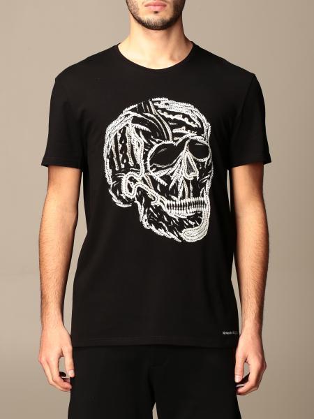 T-shirt Alexander McQueen in cotone con teschio