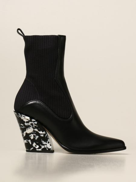 Jimmy Choo: Mele Jimmy Choo ankle boot in leather and marble heel