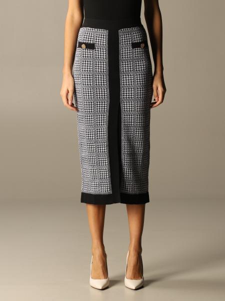 Liu Jo longuette skirt with pied de poule pattern