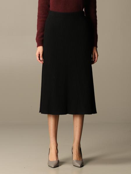 D.exterior: D.exterior longuette skirt in cashmere