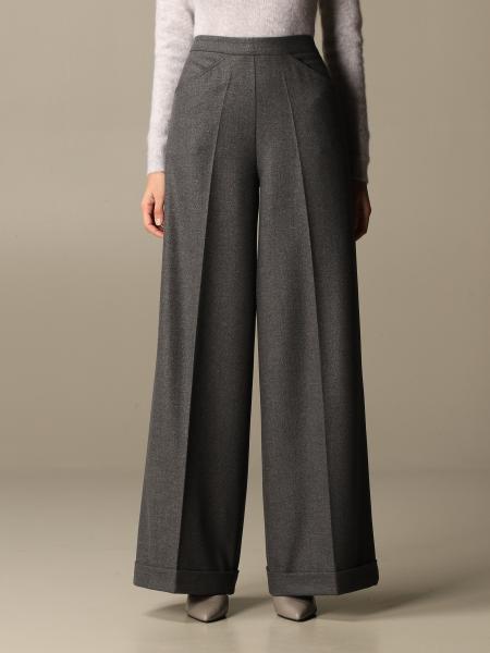D.exterior: Wide D.exterior flannel trousers