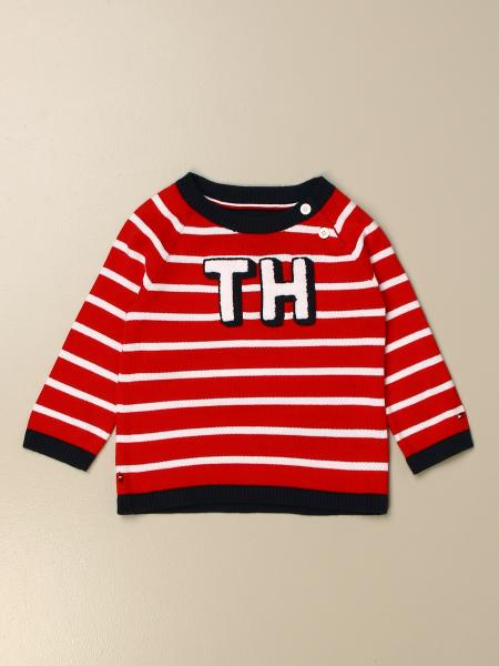 Tommy Hilfiger: Tommy Hilfiger crewneck sweater in striped cotton