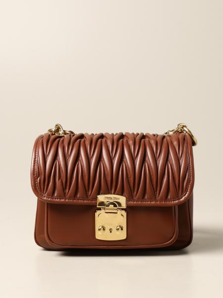 Miu Miu: Miu Miu bag in smooth and quilted leather