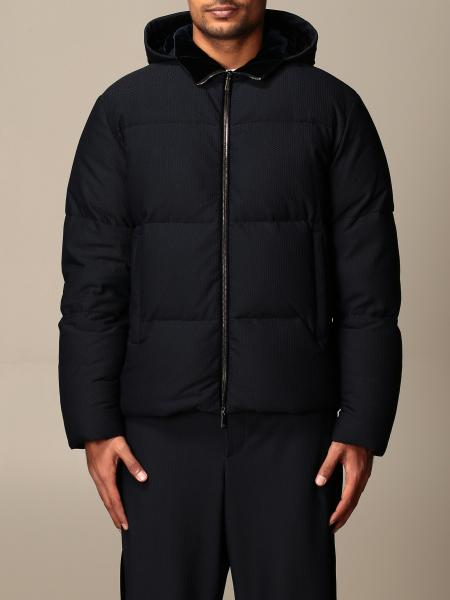 Giorgio Armani: Giorgio Armani down jacket in embossed fabric