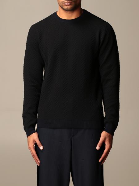 Giorgio Armani men: Giorgio Armani zig zag crewneck sweater