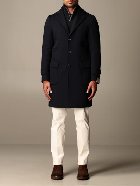 Eleventy coat in wool and cashmere