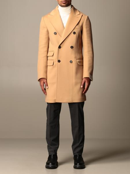 Eleventy double-breasted coat in wool and cashmere