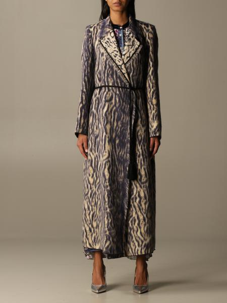 Forte Forte dressing gown coat in patterned virgin wool