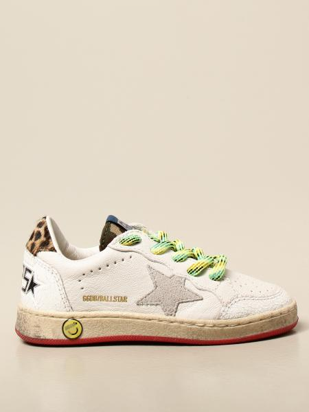 Golden Goose kids: Golden Goose sneakers in leather with suede star