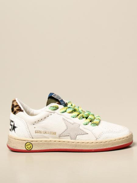 Golden Goose bambino: Sneakers Ball Star Golden Goose in pelle