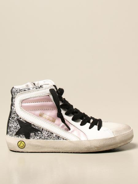 Golden Goose bambino: Sneakers Golden Goose in pelle e glitter