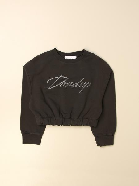 Dondup cropped sweater with logo