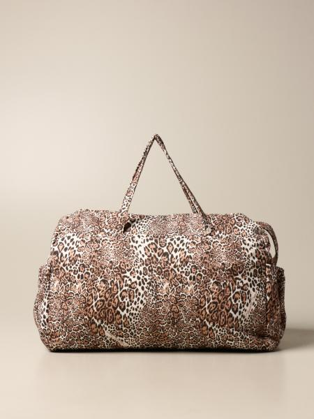 Elisabetta Franchi diaper bag in animalier fabric