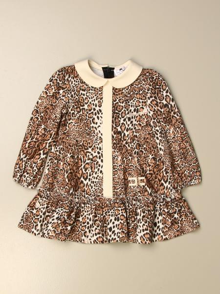 Elisabetta Franchi kids: Elisabetta Franchi short dress with animalier pattern