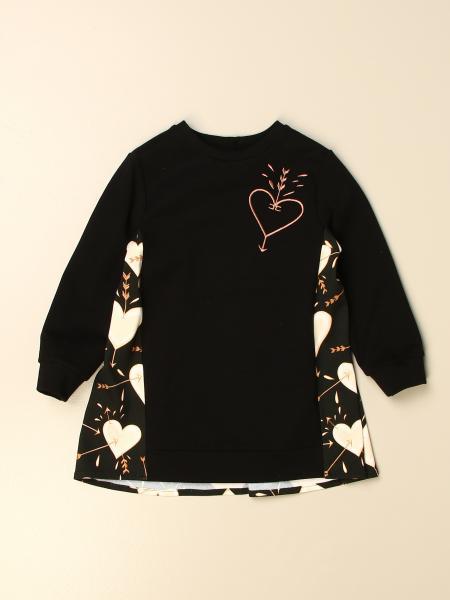 Elisabetta Franchi kids: Elisabetta Franchi short dress with hearts pattern
