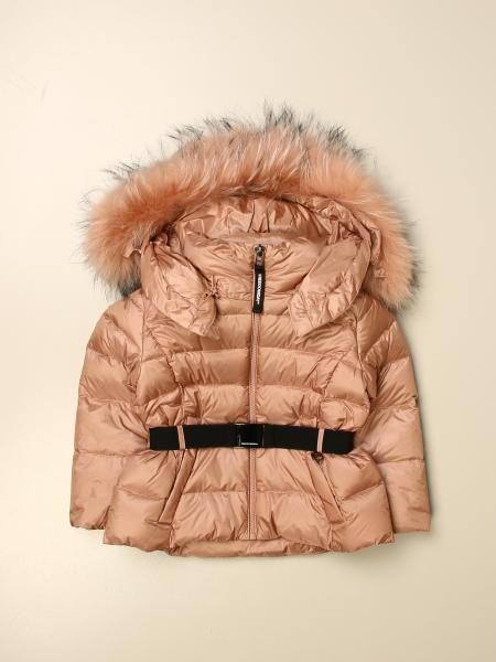 Freedomday down jacket with hood and fur edges