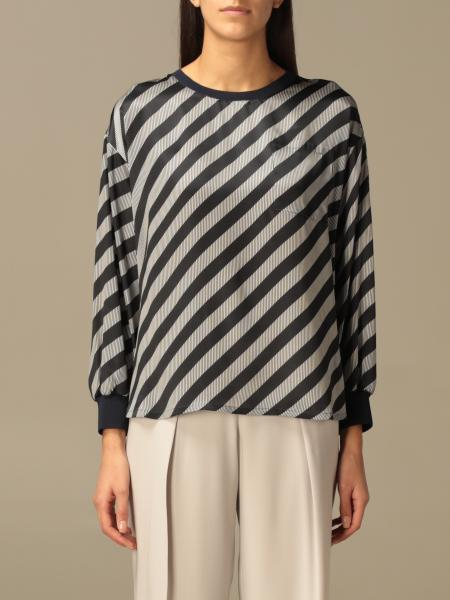Giorgio Armani blouse with diagonal stripes