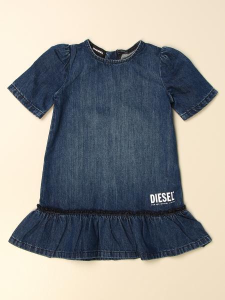 Diesel denim dress with logo