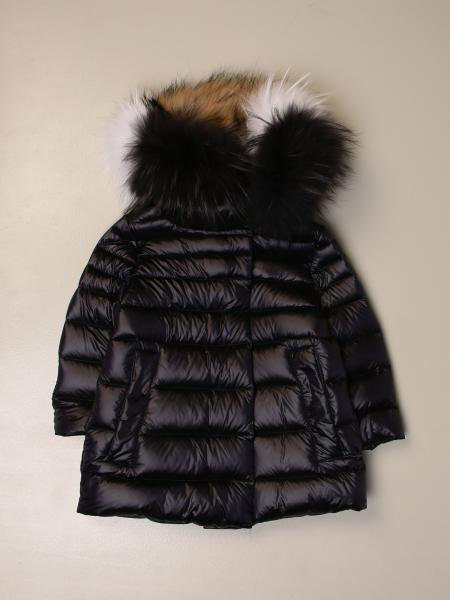 Freedomday down jacket with removable fur edges