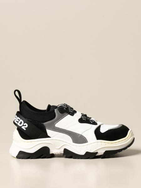 Dsquared2 Junior sneakers in suede leather and fabric