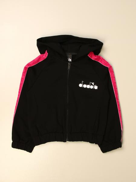 Diadora sweatshirt with hood and zip