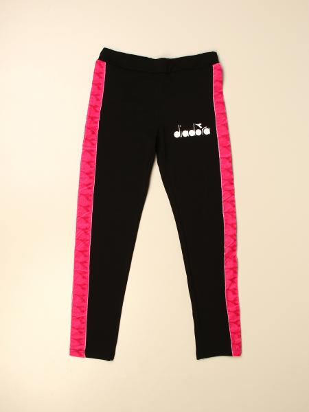 Diadora jogging trousers with contrasting bands