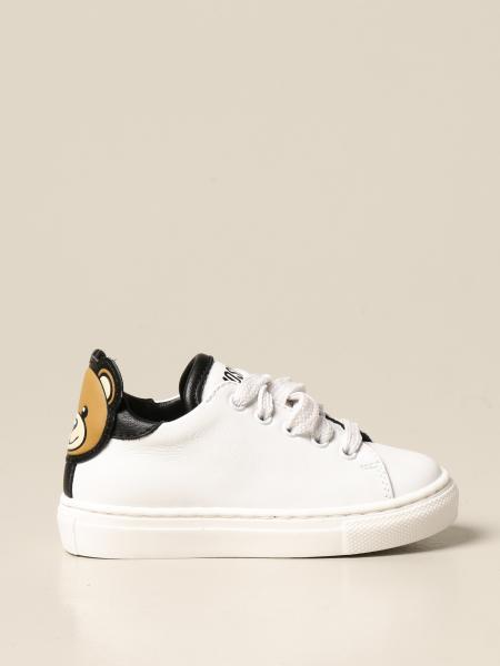 Moschino Baby sneakers in leather with logo