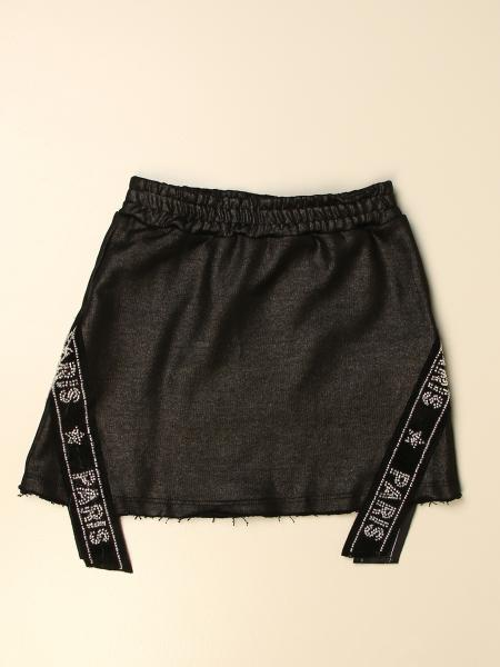 GaËlle Paris short skirt with rhinestone bands with logo