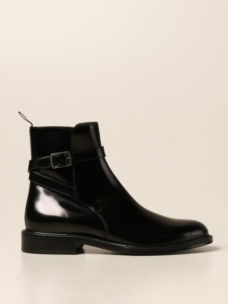 Saint Laurent: Saint Laurent ankle boot in brushed leather