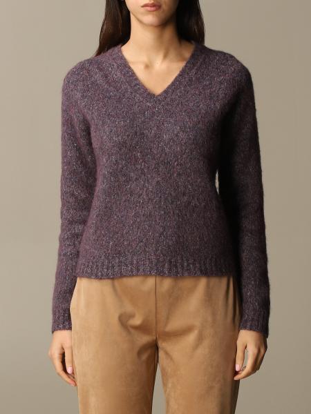 Roberto Collina: Maglia a v Roberto Collina in cotone e lana