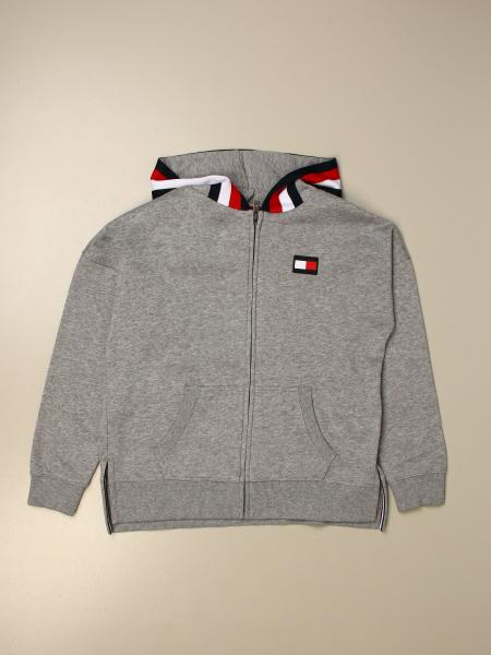Tommy Hilfiger: Tommy Hilfiger sweatshirt with hood and striped edges