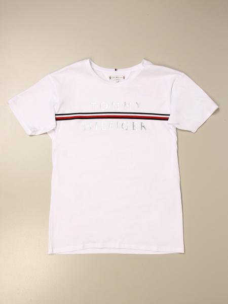 Tommy Hilfiger: Tommy Hilfiger t-shirt with logo and striped band