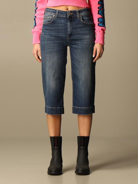 Jeans cropped Dondup in denim used