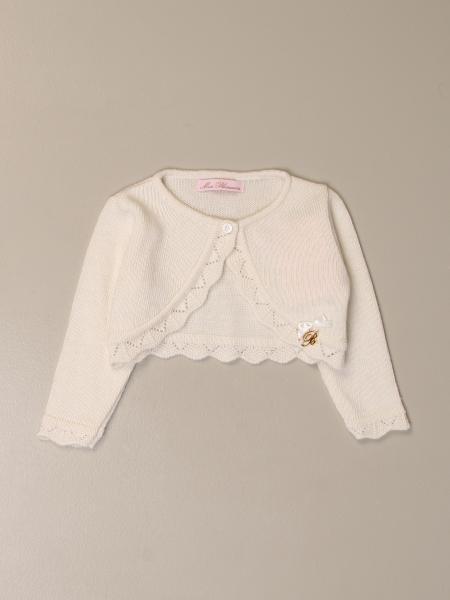 Miss Blumarine: Miss Blumarine short cardigan with embroidered edges