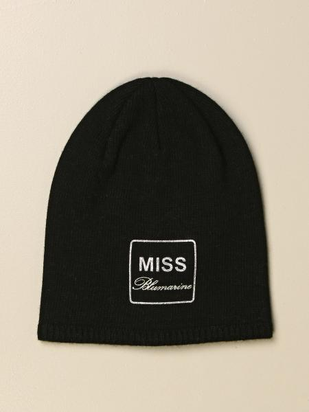 Miss Blumarine hat in viscose and wool with glitter logo