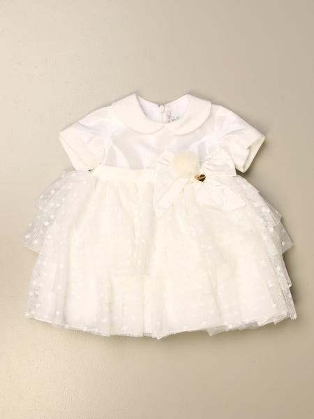 Le Bebé: Abito Le Bebé in misto cotone e tulle a pois