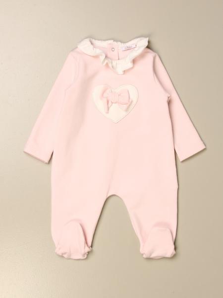 Tutina con piede Le Bebè in cotone con fiocco