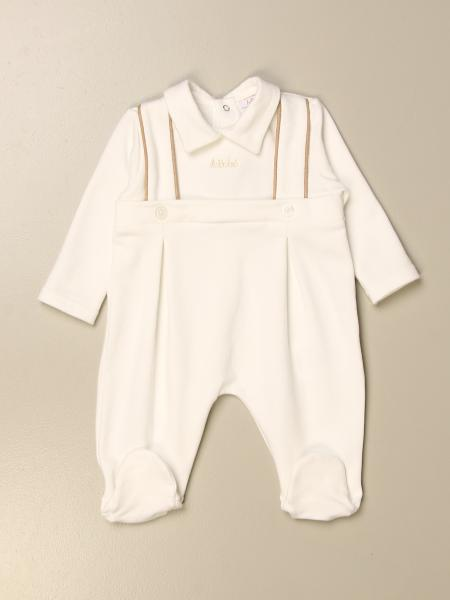 Le Bebè footed romper with logo