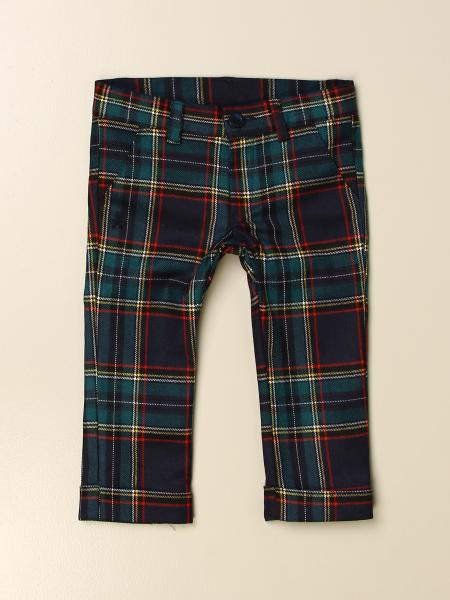 Pantalone classic Le Bebè in misto lana tartan