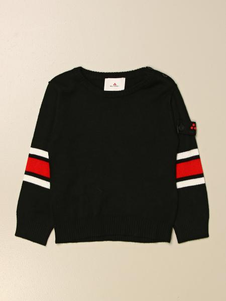 Peuterey kids: Peuterey crewneck sweater in wool blend with striped bands