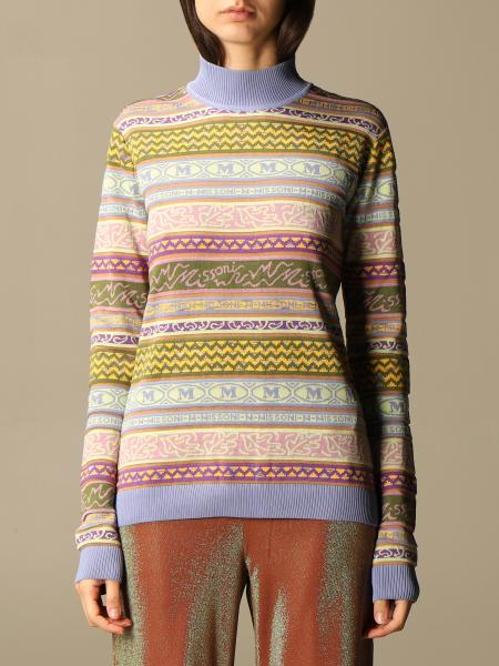 Missoni: M Missoni sweater in cotton and cashmere blend