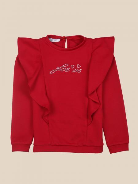 Paciotti sweater with rhinestone logo
