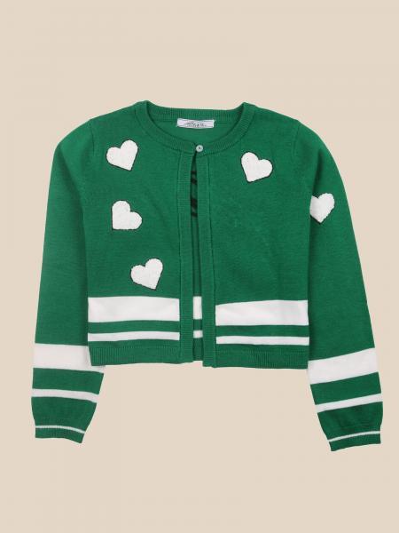Paciotti crewneck cardigan with hearts