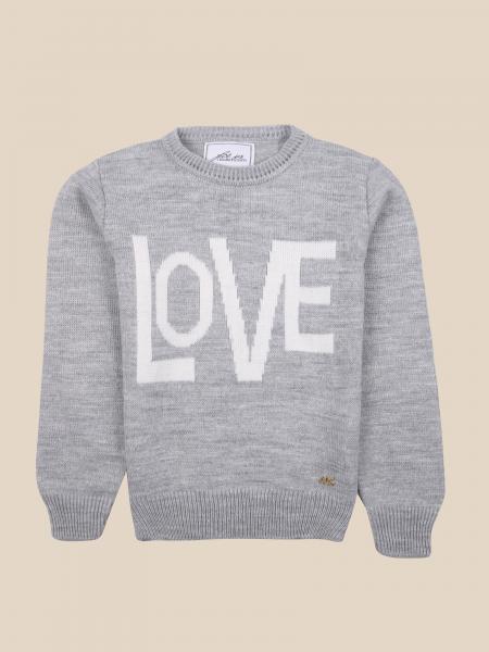 Paciotti crewneck sweater with jacquard love writing