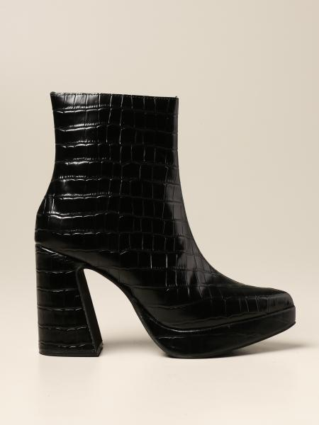Dormant Jeffrey Campbell ankle boot in crocodile print leather