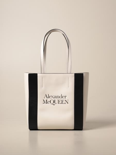 Alexander Mcqueen: Borsa a mano Alexander McQueen in pelle con logo