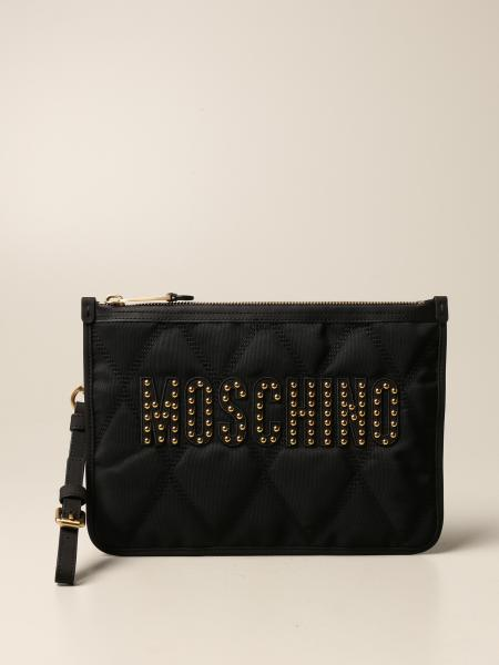 Moschino Couture clutch bag in quilted fabric